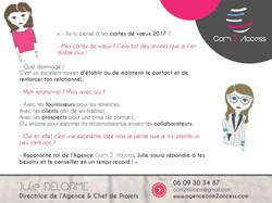 C2A -Prospection Carte de Voeux 2017