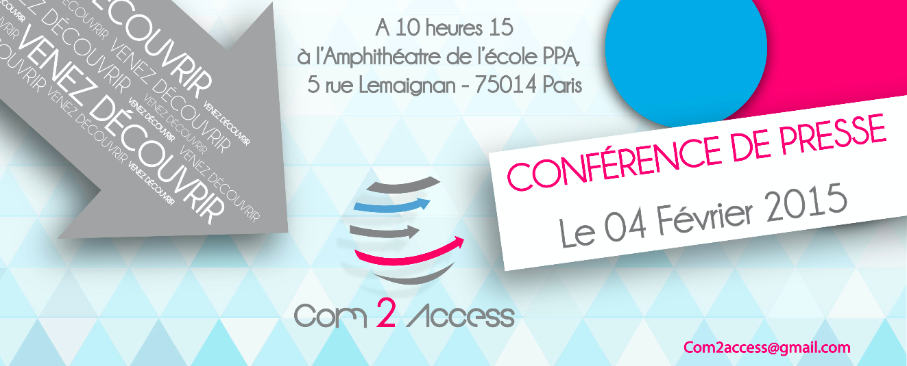 C2A - Affiche Conférence de presse