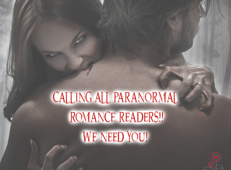 Paranormal Romance Readers Wanted!