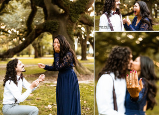 Sandra + Eli | Christmas Minis with a SURPRISE PROPOSAL | Mobile, Alabama