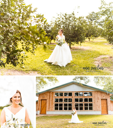 Courtney | Bridal Portraits | The Orchard at Hayes Farm | Theodore, Alabama