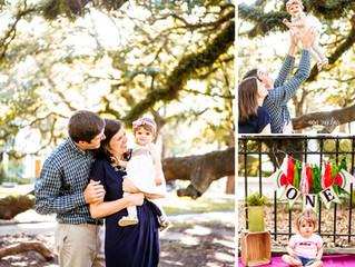 Jung Family Photos | Addison's 1st Birthday + Smash Cake | Mobile, Alabama