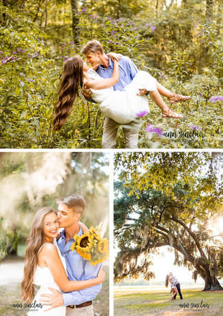 Julie + Mason | Engagement | Handey's Farm and Nursery + The Oaks Plantation | Pike Road, Alabam