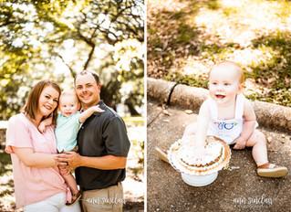 Collins Family Photos | William's 1st Birthday + Smash Cake | Mobile, Alabama