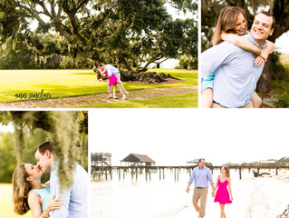 Callie + Parker | Engagement | Fry House | Point Clear, Alabama