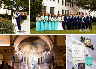 Allyson + Trey | Wedding | St. Mary's Catholic Church + McGill-Toolen Catholic High School | Mob