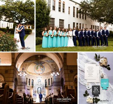 Allyson + Trey   Wedding   St. Mary's Catholic Church + McGill-Toolen Catholic High School   Mob
