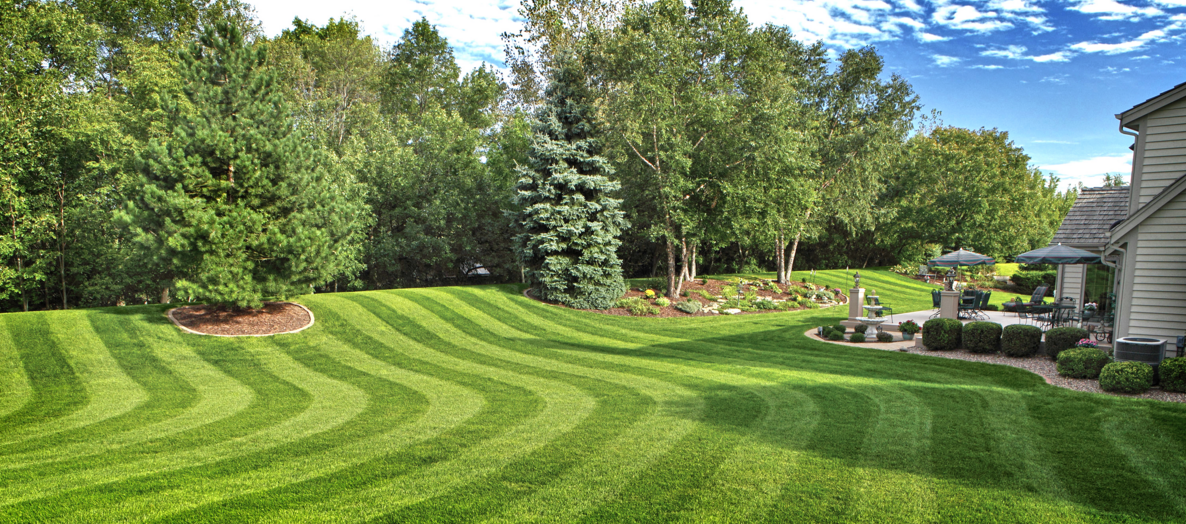 Dedicated Landscaping pic of mowing with