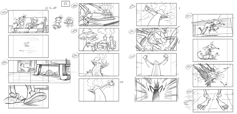 "Storyboard ""Garage Club"""