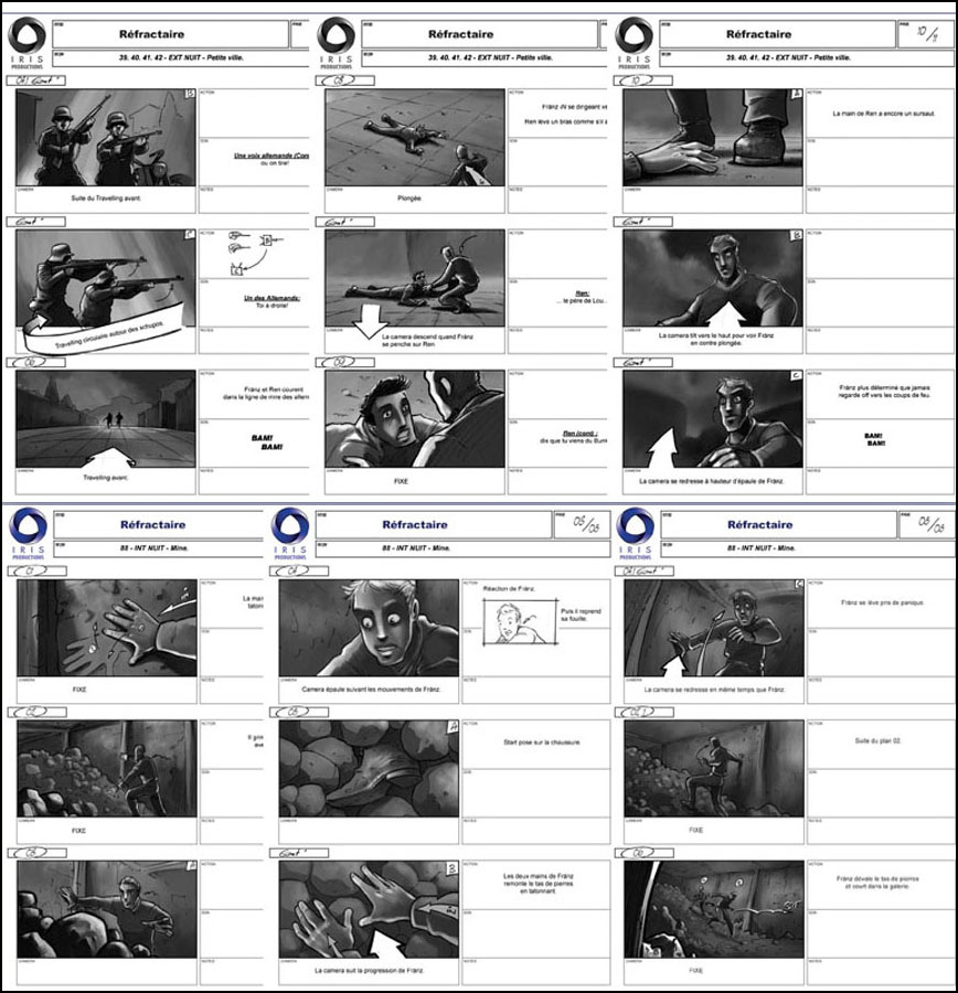 Storyboard REFRACTAIRE