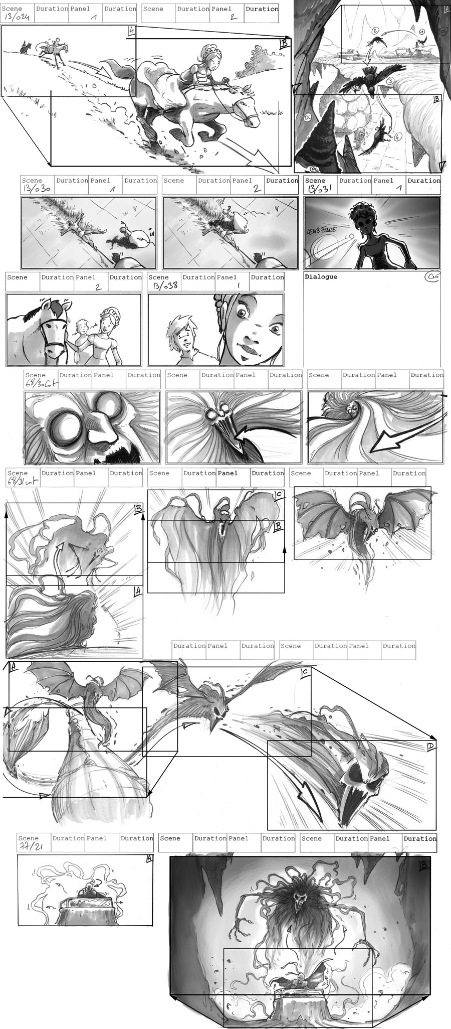 Storyboard GOLDEN HORSE