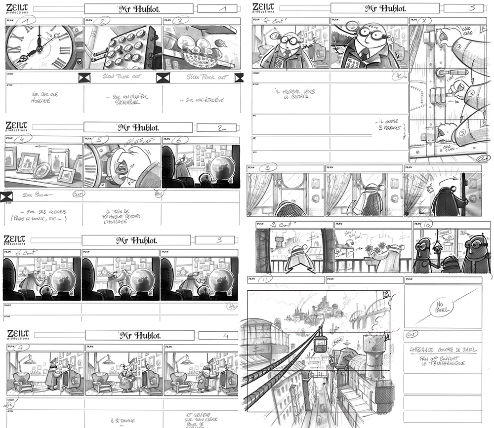 Storyboard Mr HUBLOT