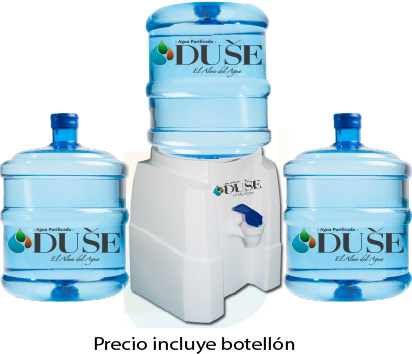 Dispensador de agua + 3 Bidones