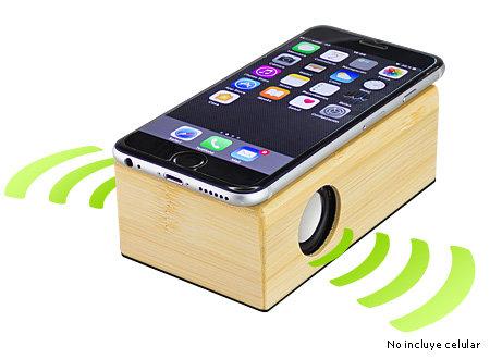 parlante inducción de bamboo