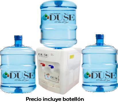 Dispensador de Agua Frio/Caliente + 3 Bidones