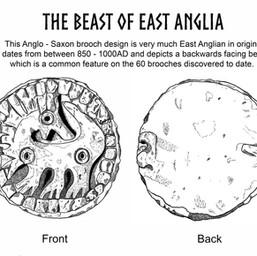 beast of East Anglia Anglo-Saxon Brooch