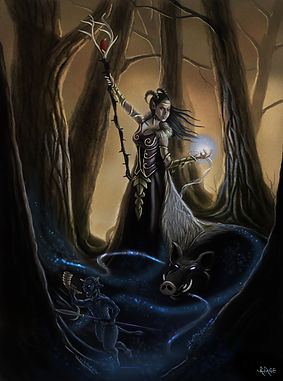 woodland fairie Fantasy Illustration