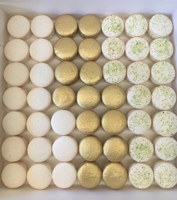 White, gold & lime coconut macs