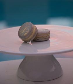 Silver Air-brushed macaron