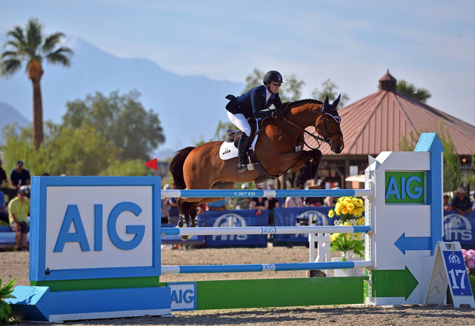 Mandy Porter and Milano Win AIG Million at HITS Coachella – And a $350,000 Check