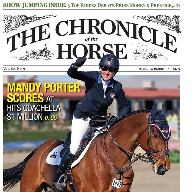 Mandy Porter Lands Cover of The Chronicle of the Horse