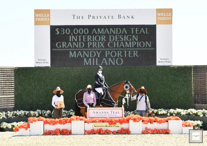 Mandy Porter and Milano Win $30,000 Amanda Teal Grand Prix