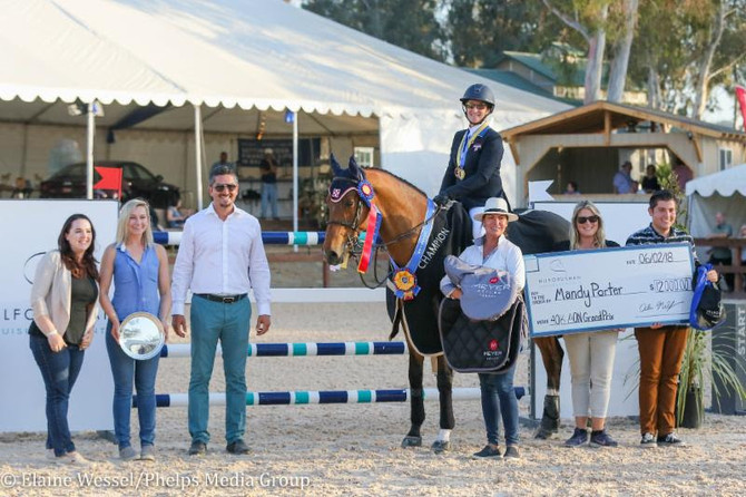 Mandy Porter and Milano Master $40,000 Aon Grand Prix at Temecula Valley National Horse Show