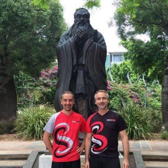 IWKA Brisbane Kung Fu Sifu Jurgen and Sifu Peter.JPG