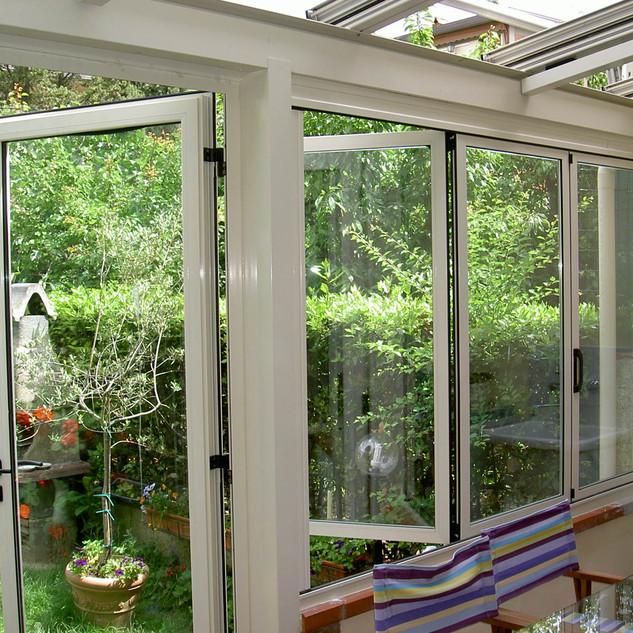 Veranda pieghevole alluminio