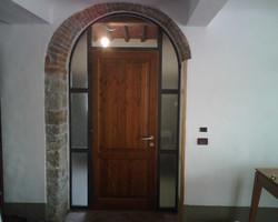 porta ferro e legno