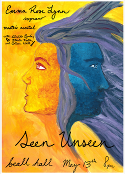 Master's Recital Poster