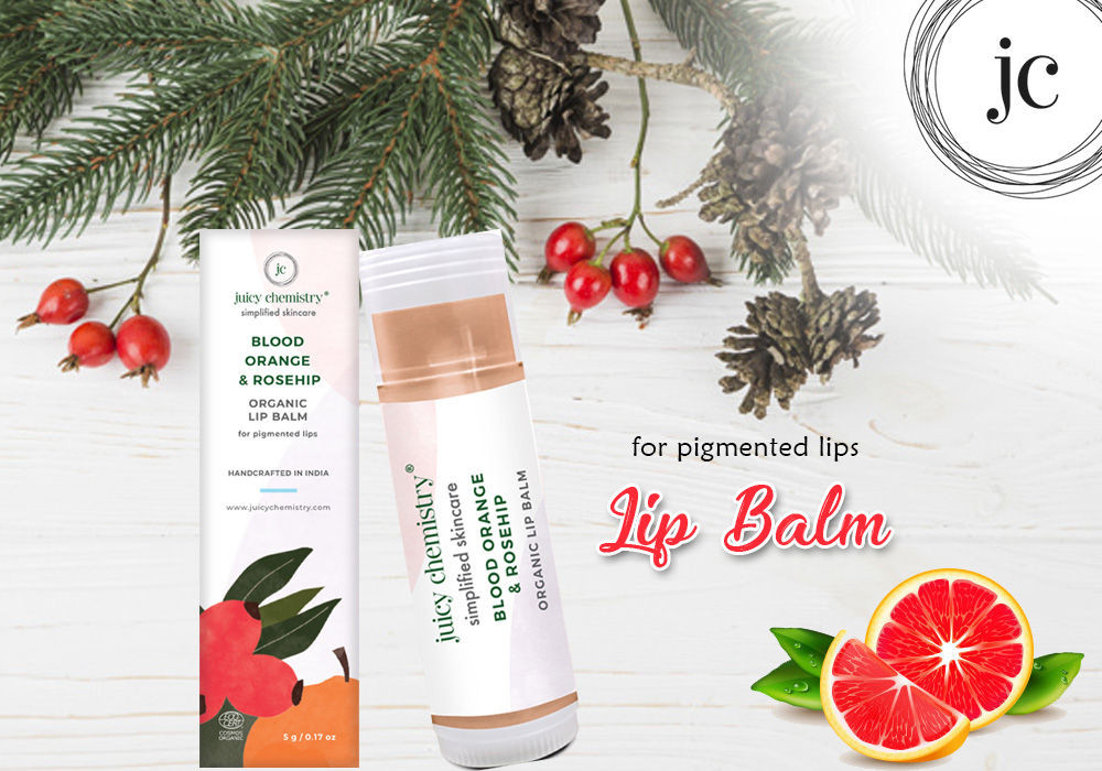 Lip care and Lip balm | Juicy Chemistry Blood Orange & Rose Hip Lip Balm