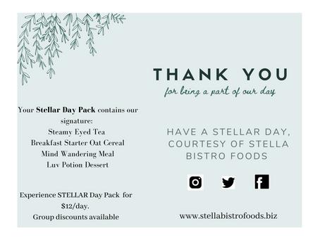 Send STELLAR Love With Stella Bistro Foods!