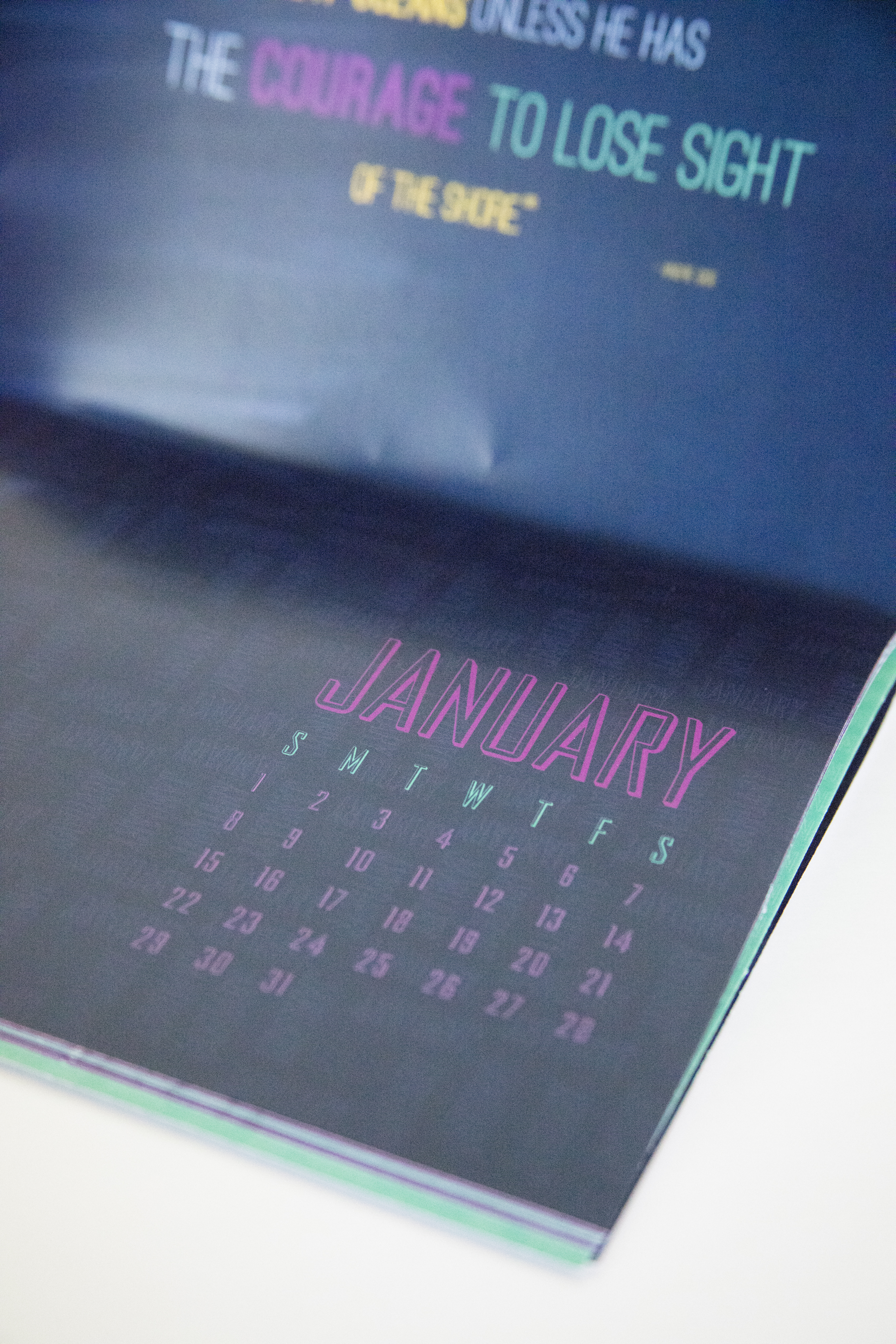 Typography Travel Calendar