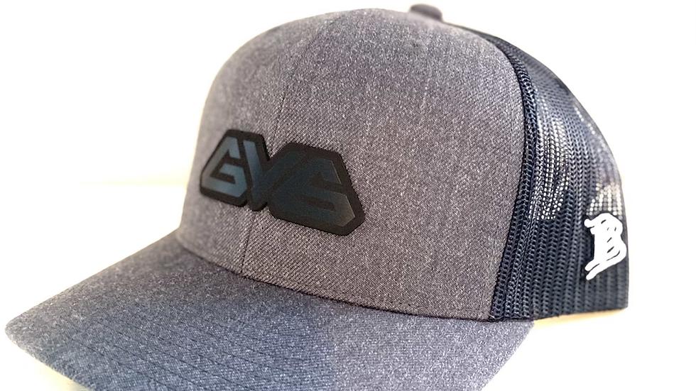 Midnight Series Curved Bill GY6 Branded Bills Trucker Hat - Dk Grey