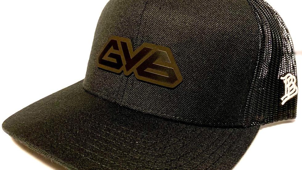 Midnight Series Curved Bill GY6 Branded Bills Trucker Hat - Black