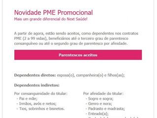 Novidades no PME Next Saúde