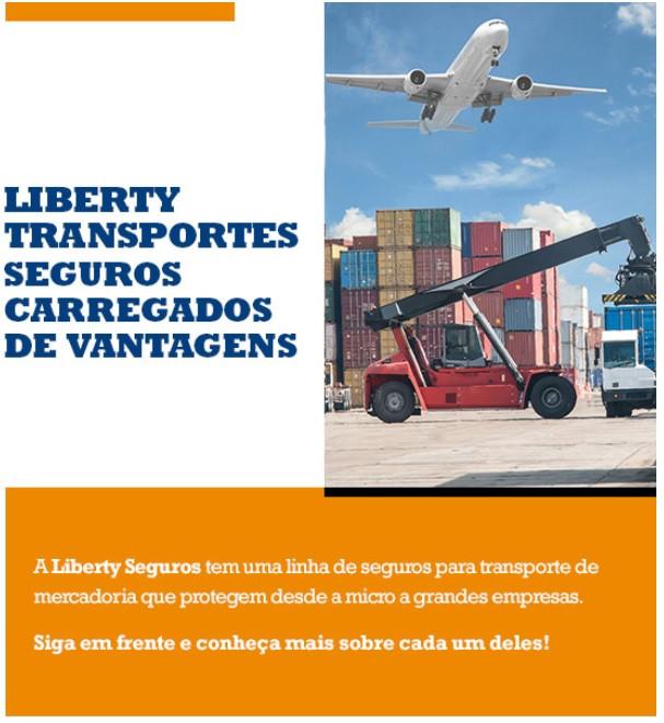 Liberty Transportes, Seguro de transporte, seguro de carga, Liberty, Unionseg, Corretora de seguros