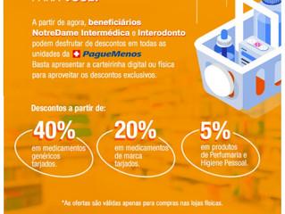 PagueMenos é nova Parceira NotreDame Intermédica
