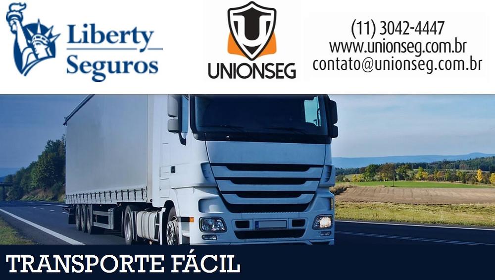 Liberty Transporte Facil, Seguro de Carga, Seguro de Transporte, Seguro de Mercadoria, Seguro de Hortifruti, seguro de lavoura, unionseg, corretora de seguros