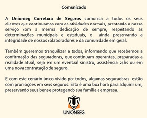 Comunicado Unionseg