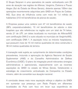 Nova Aquisição do GNDI em Minas Gerais
