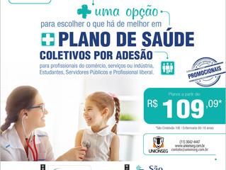Plano de Saúde a partir de 109,09*, a Unionseg Tem!