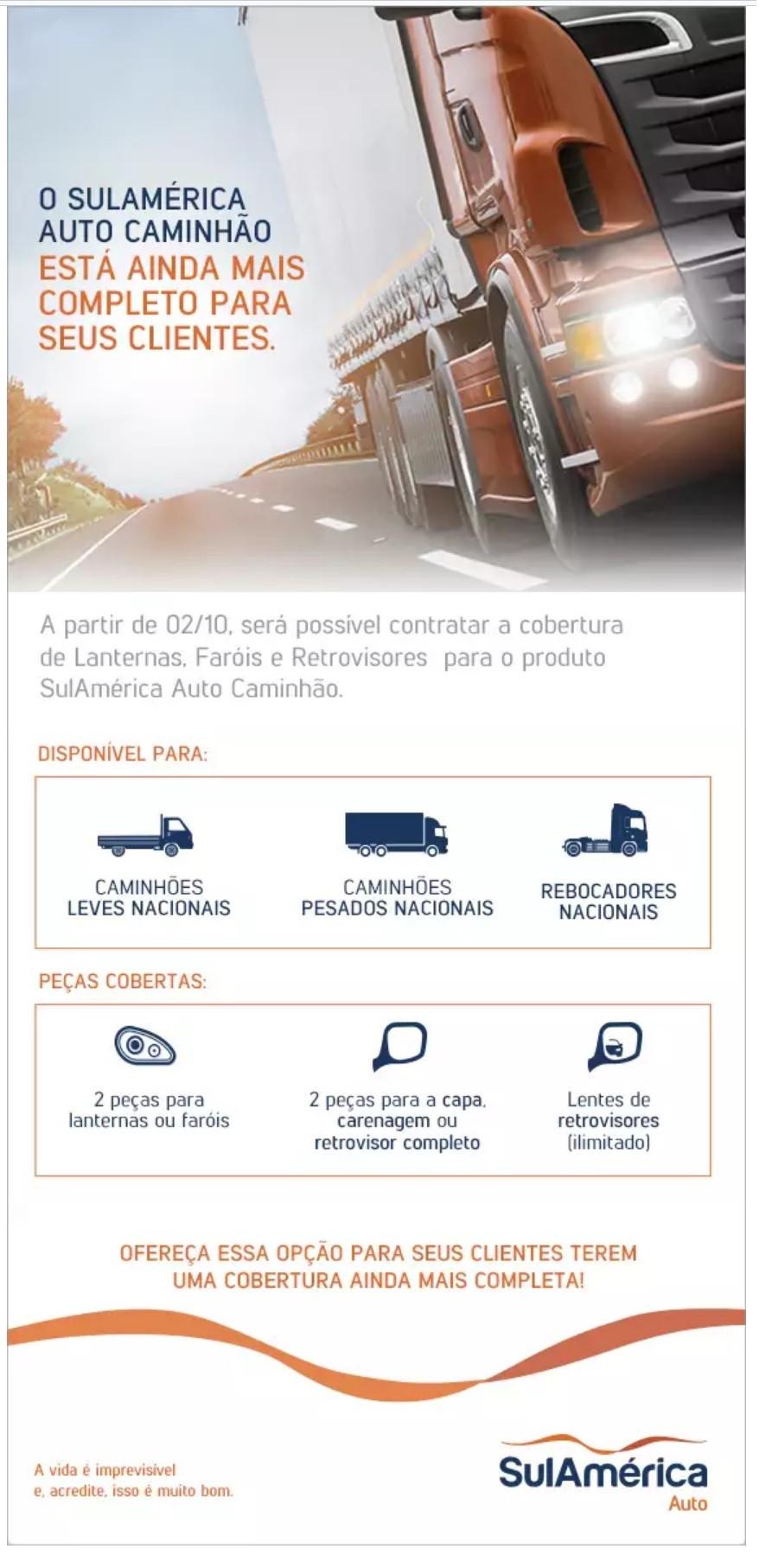 Seguro Auto Caminhão SulAmérica, SulAmérica, Seguro de Caminhão, Unionseg. Corretora de Seguros