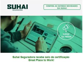 Suhai Seguradora recebe selo de certificação Great Place to Work!