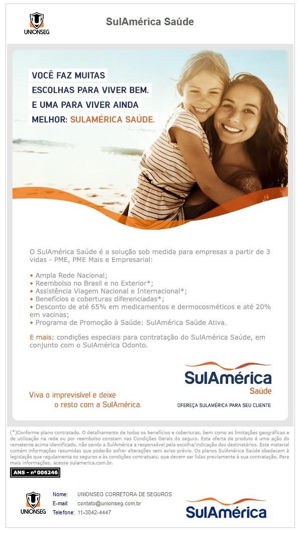 Sul América Saúde, Saúde Empresarial, Saúde PME, Unionseg, corretora de seguros
