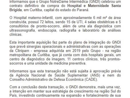 GNDI - Nova AquisiçãoHospital e Maternidade Santa Brígida