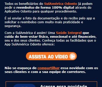 Reembolso 100% Digital no SulAmérica App Odonto