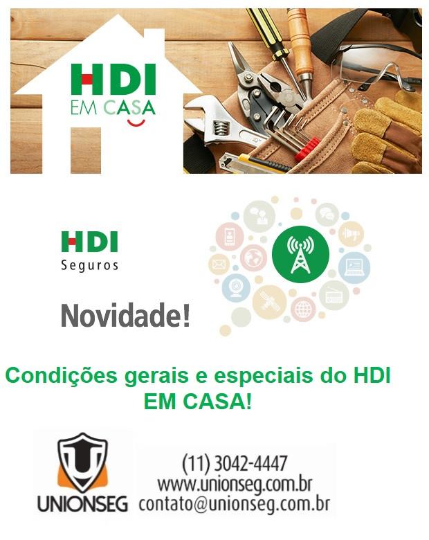 HDI EM CASA, HDI, Seguro Residencial, Seguro de Casa, Seguro de Imóvel, Unionseg, Corretora de Seguros