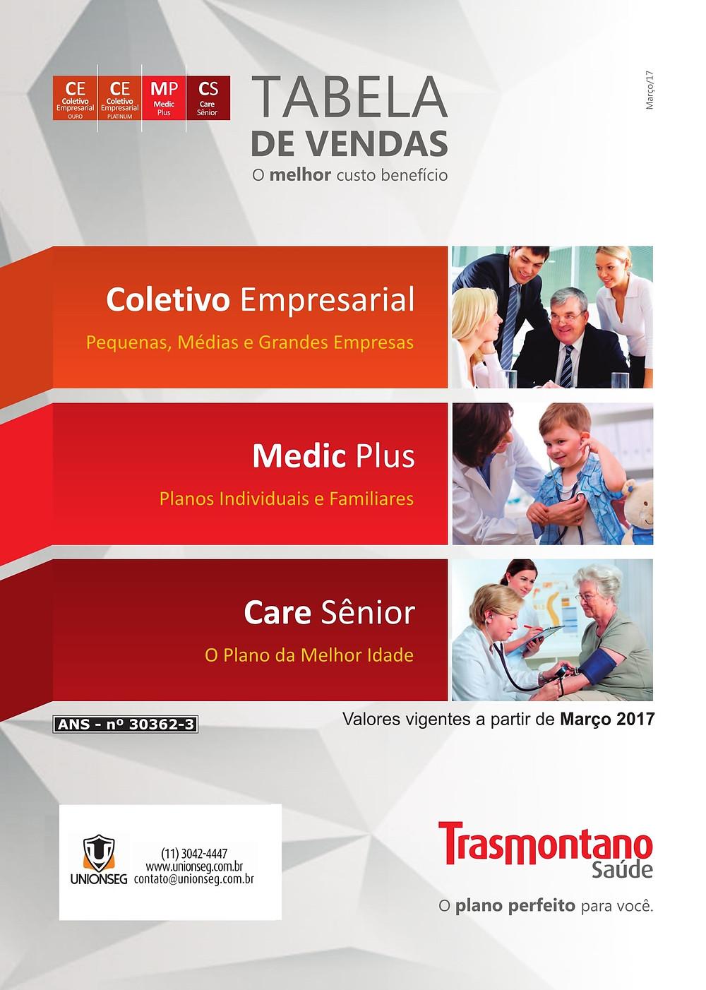 Tabela de Preço Prevident, Trasmontano, tabela trasmontano, plano de saúde, saúde empresarial. terceira idade, melhor idade, unionseg, corretora de seguros